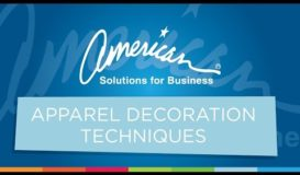 Apparel Decoration Techniques | American Solutions for Business